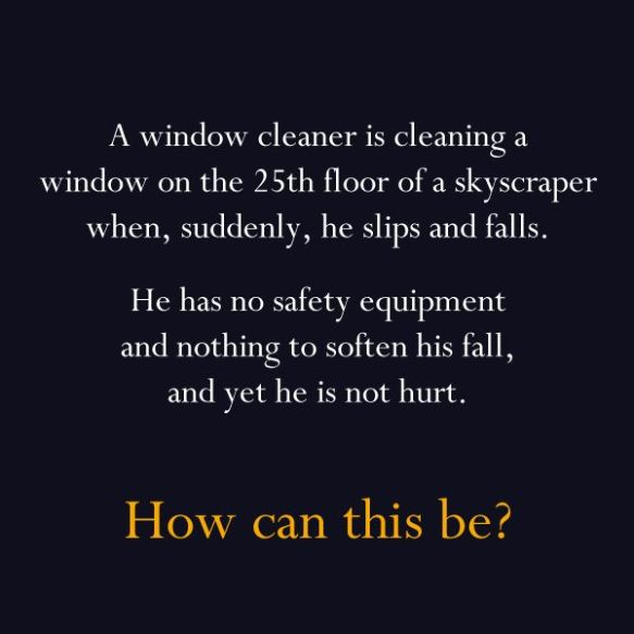 The Window Cleaner problem