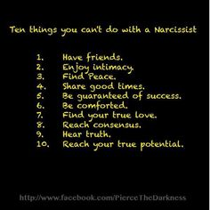 Things a narcissist says