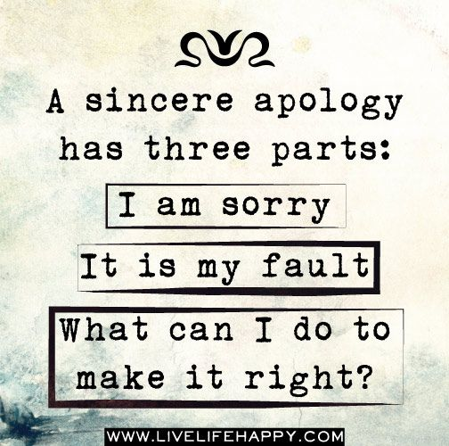 I dont need your damn fake apologies Lucky Otters Haven