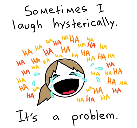 Cartoon laughing hysterically