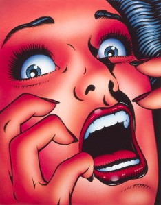 Terrified Woman Screaming --- Image by © Images.com/CORBIS