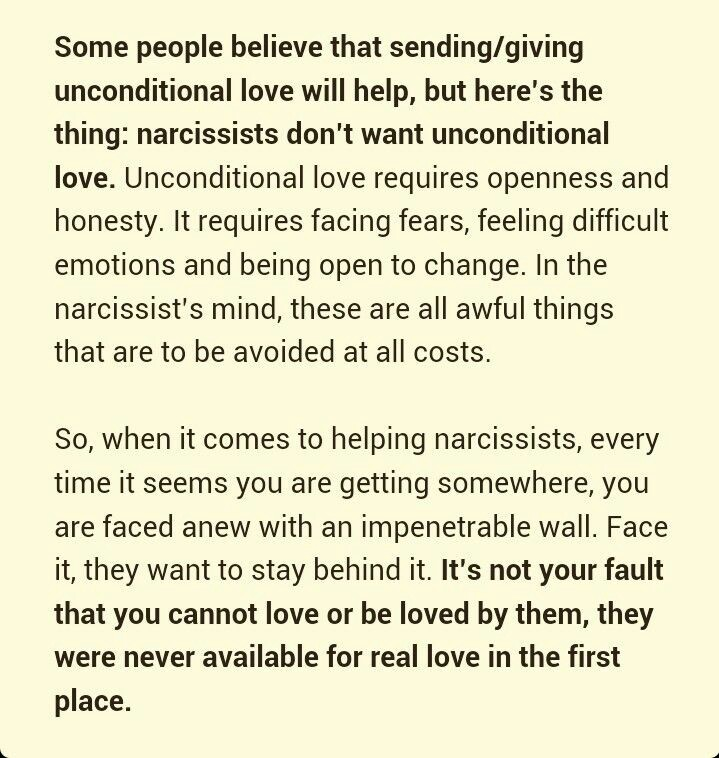 Narcissistic lover