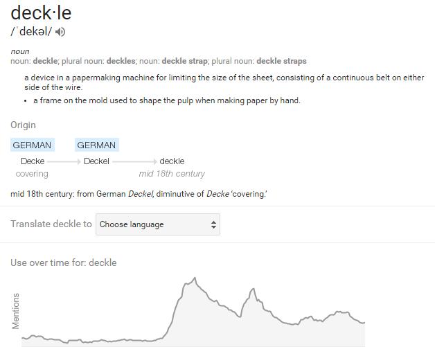 deckle