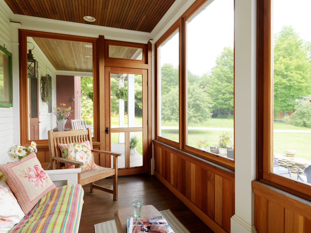 new summer project an enclosed porch lucky otters haven. Black Bedroom Furniture Sets. Home Design Ideas